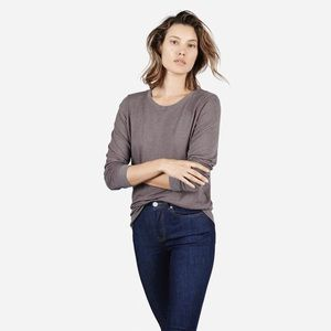 Everlane - The French Terry in Mauve